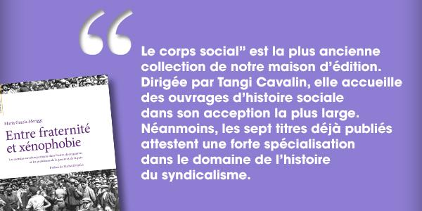 Présentation de la collection « Le corps social »